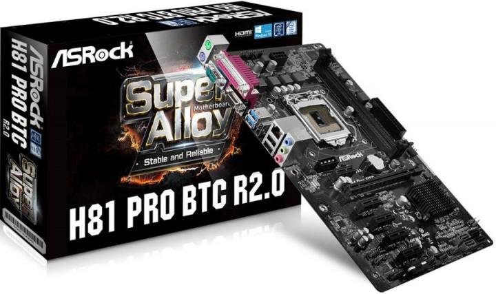 Материнська плата ASRock H81 Pro BTC R2.0 (s1150, H81, PCIe x16)