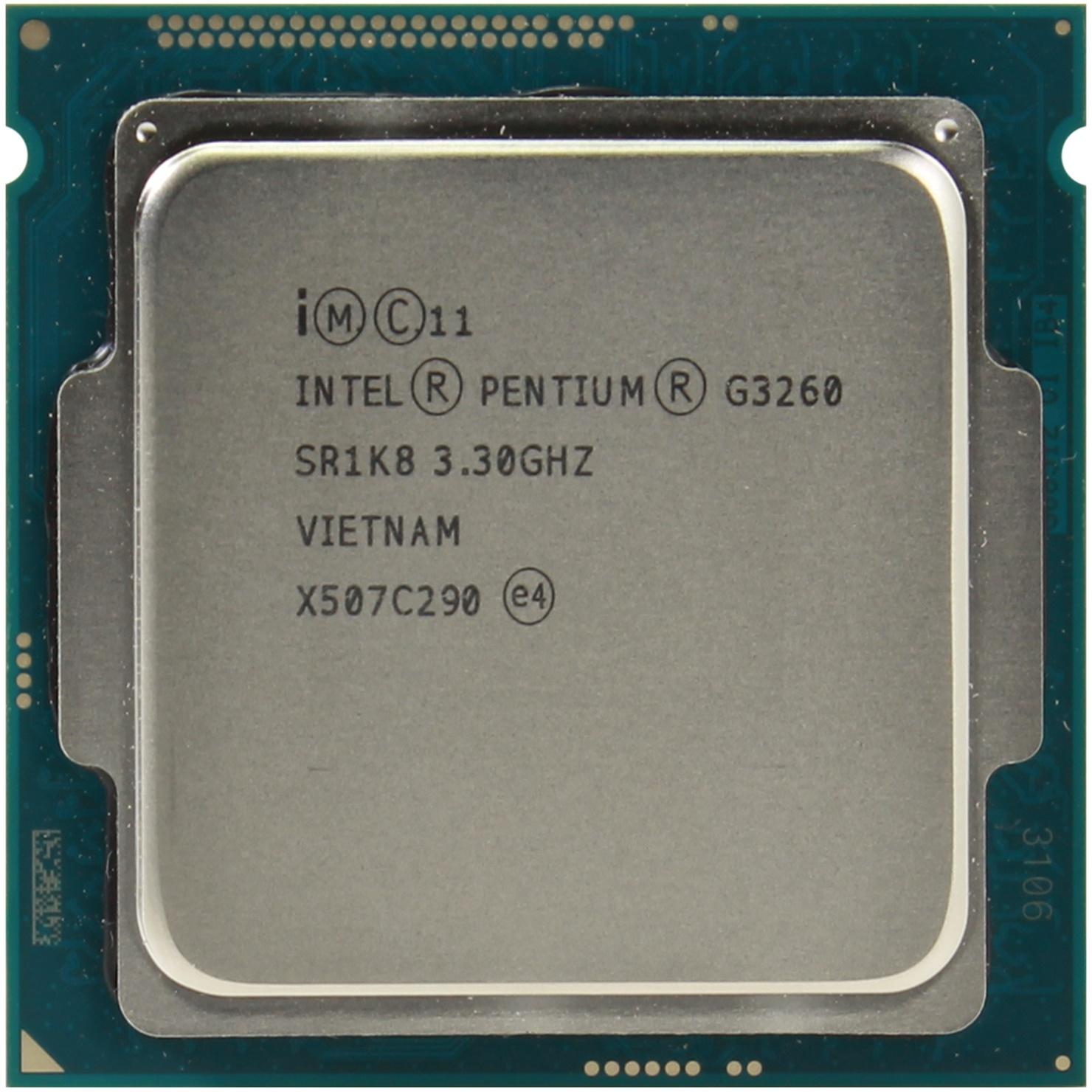 Процесор INTEL Pentium G3260 (BX80646G3260) s1150, 2 ядра, 3.30GHz, Intel HD Graphics, DMI 5 GT/s,